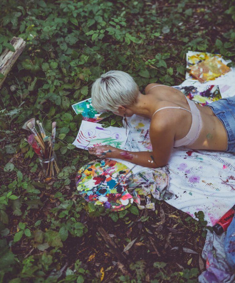 Intuitiv malen im Wald